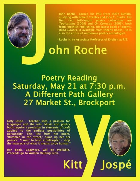 Roche Jospe Poetry Reading Poster